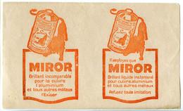 Buvard  20.3 X 12.1  Produit Du LION NOIR   MIROR  Fait Briller Les Cuivres Et Aluminium Et Tous Autres Métaux - Wash & Clean