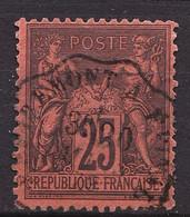 91 - 25c Noir Sur Rouge Sage Type II (N/U) - Oblitéré - Très Beau - 1876-1898 Sage (Type II)