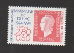 FRANCE / 1994 / Y&T N° 2863 ** : Journée Du Timbre Marianne De Dulac Avec Surtaxe (de Feuille) X 1 (sans BdF) - Unused Stamps