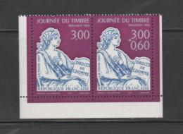 FRANCE / 1997 / Y&T N° 3052A ** Ou P3052A ** : Journée Du Timbre (Mouchon). Paire Avec/sans Surtaxe X 1 Avec 3 BdC - Unused Stamps