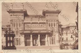 CARTOLINA  SALSOMAGGIORE TERME,PARMA,EMILIA ROMAGNA,R.TERME BERZIERI-INGRESSO PRINCIPALE, ANIMATA,PARCO,  VIAGGIATA 1926 - Parma