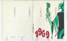 MENU - CASINO-KURSAAL MIDDELKERKE - DRUK. CAILLIAU - STENE - OOSTENDE Noël Et Réveillons 1968-69 - Menus