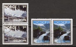 Norvège - Norway - Norwegen 1977 Y&T N°698b à 699d - Michel N°724Du à 725Dr *** - EUROPA - Used Stamps