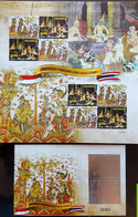 INDONESIA THAILAND JOINT ISSUE SHEETLET AND SHEET HOLOGRAM 2016 - Indonesia