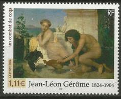 "Timbre Neuf France MNH 2004 : Jean-Léon Gérôme (1824-1904) ""Un Combat De Coqs"" - Ongebruikt"