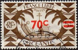 Océanie Obl. N° 174 - Série De Londres  - Le Surchargé 70c Sur 5c Sépia - Oblitérés