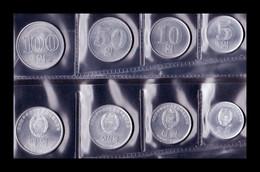 Corea Del Norte Set 5 Monedas 1 5 10 50 100 Won 1959 -1987 SC UNC - Corée Du Nord