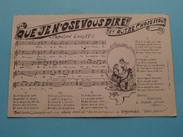 QUE JE N'OSE VOUS DIRE Et Autre Chose Itout / Chanson Louis XV ( Le Gorde Paris ) 19?? ( Voir Photo ) ! - Music