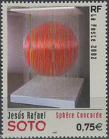 "Timbre Neuf France MNH 2002 : Jésus Rafael Soto ""Sphère Concorde"" - Ongebruikt"