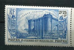 St Pierre Et Miquelon ** N° 195- 150e Anniversaire De La Révolution - Nuevos