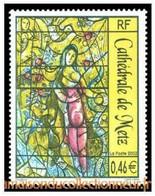 Timbre Neuf France MNH 2002 : Vitrail De Marc Chagall De La Cathédrale De Metz - Ongebruikt