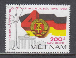 Vietnam 1989 - (1) 40 Years DDR, Mi-Nr. 2101, Used - Vietnam