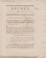 Rare Décret 1793 Numismatique Sur  Assignats à Face Royale  Avec Cachet Rouge R.F. N° 1322 Assignat - Historical Documents