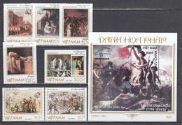 Vietnam 1989 - 200th Anniversary Of The French Revolution(II), Mi.Nr. 2065/71+Bl. 71, Used - Vietnam