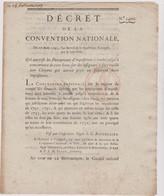 Rare Décret 1793 Numismatique Sur  Assignats à Face Royale  Avec Cachet Rouge R.F. N° 1400 Assignat - Historical Documents