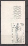 Croix Rouge David D'Angers YT 1400 De 1963 Essai De Couleur Sans Trace Charnière - Ungezähnt