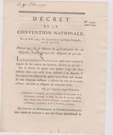 Rare Décret 1793 Numismatique Sur  Assignats 400 Livres  Avec Cachet Rouge R.F. N° 1450 Assignat - Historical Documents