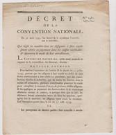 Rare Décret 1793 Numismatique Sur  Assignats à Face Royale   Avec Cachet Rouge R.F. N° 1481 Assignat - Historical Documents