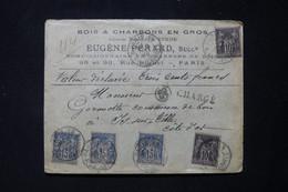 FRANCE - Lettre Commerciale En Chargé De Paris Pour Is / Tille En 1896, Affranchissement Sage 10ct X2 +15ct X3 - L 86924 - 1877-1920: Periodo Semi Moderno