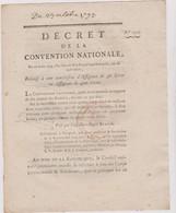 Rare Décret 1793 Numismatique Sur  Conversion Assignats 50 L Vers 400 Livres   Avec Cachet Rouge R.F. N° 1523 Assignat - Historical Documents