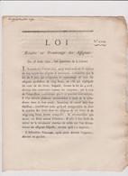 Rare Loi  1792 Numismatique Sur  Numerotage Assignats 50 L   Avec Cachet Rouge Royal  N° 2229 Assignat - Historical Documents