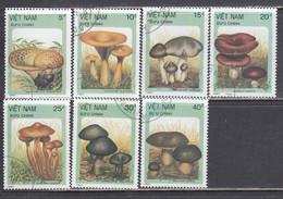 Vietnam 1987 - Mushrooms, Mi-Nr. 1876/82, Used - Vietnam