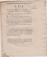 Rare Loi  1792 Numismatique Sur  Création  Assignats  Avec Cachet Rouge Royal  N° 2281 Assignat - Historical Documents