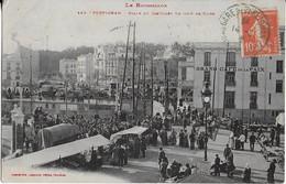 PERPIGNAN : Place Du Castillet  ,un Jour De FOIRE- Grand Café De La Paix (1910 ) - Perpignan