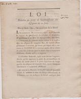 Rare Loi  1792 Numismatique Sur   Assignats 50 Sous  Avec Cachet Rouge Royal  N° 2314 Assignat - Historical Documents