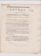 Rare Decret  1792 Numismatique Sur  Annihilation Assignats  Avec Cachet Rouge Royal  N° 233 Assignat - Historical Documents