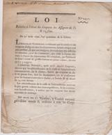 Rare Loi  1792 Numismatique Sur  Assignats  10 & 15 Sous Avec Cachet Rouge Royal  N° 2431 Assignat - Historical Documents