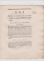 Rare Loi  1792 Numismatique Sur  Assignats   N° 2504 Assignat - Historical Documents