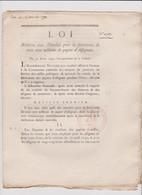 Rare Loi  1792 Numismatique Sur Papier  Assignats   N° 2577 Avec Cachet Rouge  R.F. Assignat - Historical Documents