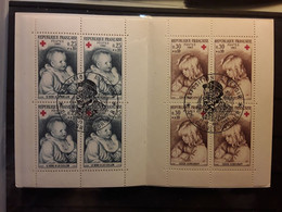 France,  1965 Carnet CROIX ROUGE FRANÇAISE RED CROSS No 2014  Obl EXPOSITION RENOIR CAGNES SUR MER,  TB - Red Cross