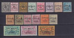 WALLIS ET FUTUNA - YVERT N°1/17 ** MNH - COTE 2017 = 86.5 EUR - Unused Stamps