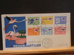 93/113   FDC NED. ANTILLEN  1963 - Fenicotteri