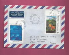 Lettre De 1995 Pour La France - YT N° 469 Et 470 - Tableau - Peinture - Storia Postale