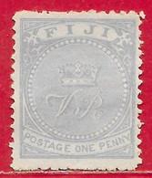 Fidji N°25 1p Outremer (dentelé 12,5) 1878-80 (*) - Fiji (...-1970)