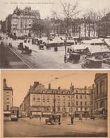 RENNES - 2 CPA : Place De Bretagne Et Quai Duguay Trouain - Place De La Mairie - Rennes