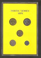 Yemen Repubblica Araba - Proof Set 1974 PS5 - Rarissimo!!!!! Solo 5000 Pezzi!!!!!! - Yemen