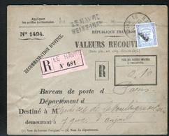 TAXE 10C SEUL ENVELOPPE VALEURS RECOUVREES, Le Havre, Seine Maritime - Lettere Tassate