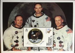 British Virgin Islands 1994 Moon Landing Anniversary Minisheet MNH - Britse Maagdeneilanden