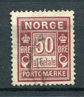 Norwegen Porto Nr.6 I A         O  Used       (1164) - Gebraucht