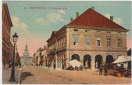 (3 Scans)  10. PONTARLIER. - L'Hôtel De Ville. +PHOTO: Pontarlier Sous La Neige, Fin Janvier 1945 (14x9cm Env.) - Pontarlier