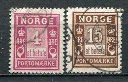Norwegen Porto Nr.2 + 4 II         O  Used       (1165) - Gebraucht