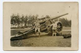 Carte Photo. Guerre 1914-18. Artillerie Lourde. Camp De ST-Dizier En 1917 Haute-Marne (52) Inscription Au Verso. - War 1914-18