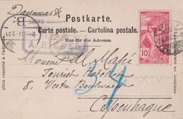 CP - VEVEY Pour COPENHAGUE / 30 AOUT 00 - Briefe U. Dokumente