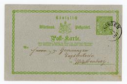 Württemberg Ganzache Postkarte P12 Öhringen Nach Waldenburg - Wuerttemberg