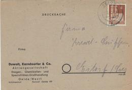 Duwalt Korndoerfer & Co Oelde PK > Eitorf Frauenkirche 1950 - Rs: Leergut-Rücksendung - Apotheek