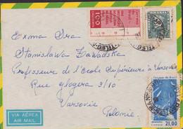 Brasil 1963,  Letter From Brazil To Poland, Postal Depot In Warsaw. Rio De Janeiro Coast P60 - Cartas